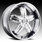 TIS 533C5 5-Spoke Chrome Custom Rims Wheels