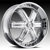 TIS 533C6 6-Spoke Chrome Custom Rims Wheels