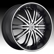 TIS 532MB TIS32 Machined Black Custom Rims Wheels