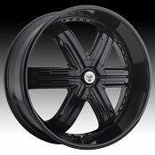 TIS 533B TIS33 Gloss Black Custom Rims Wheels