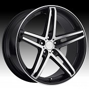 TIS 536MB TIS36 Machined Black Custom Rims Wheels