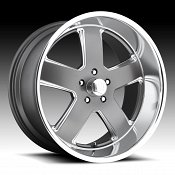 U.S. Mags U118 Hustler Gray Machined Custom Wheels Rims