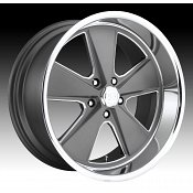 U.S. Mags U120 Roadster Gray Machined Custom Wheels Rims