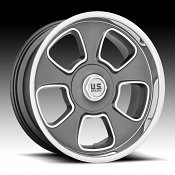US Mags BLVD U125 Gunmetal Custom Wheels Rims