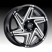 Ultra 263BM Sinister CUV Gloss Black Milled Custom Wheels Rims