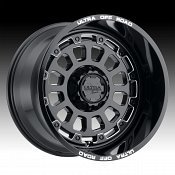 Ultra X111 Gloss Black Milled Custom Wheels Rims