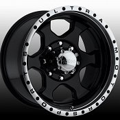 Ultra 175B 175 Rogue Black Machined Custom Rims Wheels
