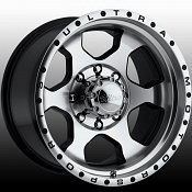 Ultra 175M 175 Rogue Machined Black Custom Rims Wheels