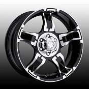 Ultra 193 / 194 Drifter Black w/ Diamond Machined Custom Rims Wh