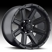 Ultra 195 Crusher Semi Gloss Black Custom Rims Wheels