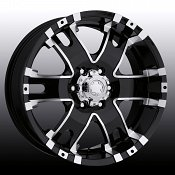 Ultra 201/ 202 Baron Black w/ Diamond Machined Custom Rims Wheel