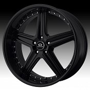 Lorenzo WL019 WL19 Gloss Black Custom Rims Wheels