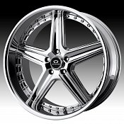 Lorenzo WL019 WL19 Chrome Custom Rims Wheels