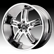 Lorenzo WL026 WL26 Chrome Custom Rims Wheels