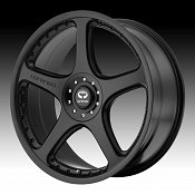 Lorenzo WL028 WL28 Satin Black Custom Rims Wheels