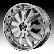 Lorenzo WL029 WL29 Chrome Custom Rims Wheels