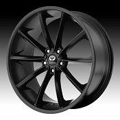 Lorenzo WL032 WL32 Satin Black Custom Rims Wheels