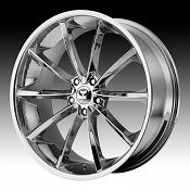 Lorenzo WL032 WL32 Chrome Custom Rims Wheels