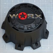 WRX-8899RSB / Worx Alloy 8-Lug Satin Black Dually Rear Center Cap