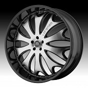 Lorenzo WL029 WL29 Gloss Black w/ Machined Face Custom Rims Whee