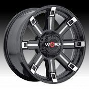 Worx Alloy 806 Triton Gloss Black with Milled Accents Custom Whe