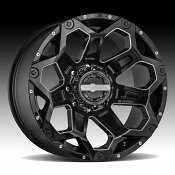 Worx Alloy 812BM Clash Gloss Black Milled Custom Wheels Rims