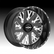 Worx Alloy 816BM Overtime Gloss Black Milled Custom Wheels Rims