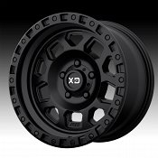 KMC XD Series XD132 RG2 Satin Black Custom Wheels Rims