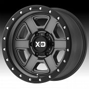KMC XD Series XD133 Fusion Off-Road Satin Gray Custom Wheels Rim