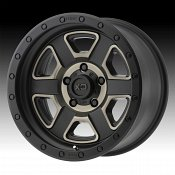 KMC XD Series XD133 Fusion Off-Road Machined Satin Black Custom