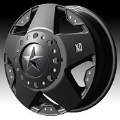 KMC XD Series XD775 Rockstar Dually Matte Black Custom Wheels Ri