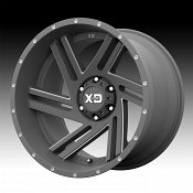 KMC XD Series XD835 Swipe Satin Gray Milled Custom Wheels Rims