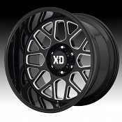 KMC XD Series XD849 Grenade 2 Gloss Black Milled Custom Wheels R