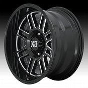 KMC XD Series XD850 Cage Gloss Black Milled Custom Wheels Rims