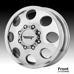 American Racing AR204 Baja Dually Polished Custom Wheels Rims 2