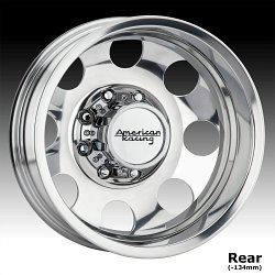 American Racing AR204 Baja Dually Polished Custom Wheels Rims 3