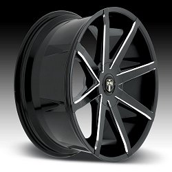 Dub Push S109 Black Milled Custom Wheels Rims 2