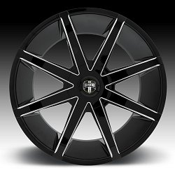 Dub Push S109 Black Milled Custom Wheels Rims 3