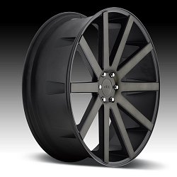 Dub Shot Calla S121 Machined Black DDT Custom Wheels Rims 2