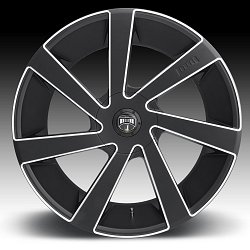 Dub Directa S133 Black Milled Custom Wheels Rims 3