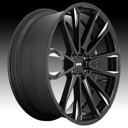 Dub Clout S252 Gloss Black Milled Custom Wheels Rims 2