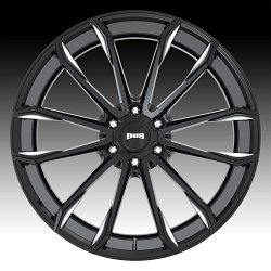 Dub Clout S252 Gloss Black Milled Custom Wheels Rims 3