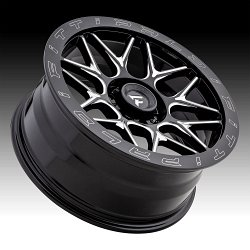 Fittipaldi Offroad Forged FTF02 Gloss Black Milled Custom Wheels Rims 3