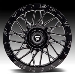 Fittipaldi Offroad Forged FTF03 Gloss Black Milled Custom Wheels Rims 2