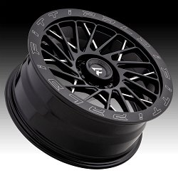 Fittipaldi Offroad Forged FTF03 Gloss Black Milled Custom Wheels Rims 3