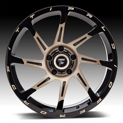 Fittipaldi Offroad Forged FTF06 Brushed Black Bronze Tint Custom Wheels Rims 2