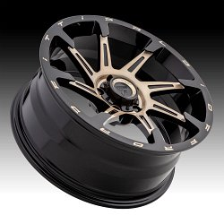 Fittipaldi Offroad Forged FTF06 Brushed Black Bronze Tint Custom Wheels Rims 3