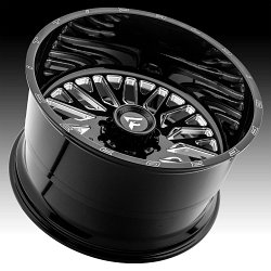 Fittipaldi Offroad Forged FTF07 Gloss Black Milled Custom Wheels Rims 3