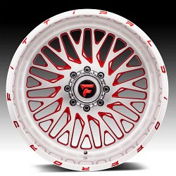 Fittipaldi Offroad Forged FTF07 Brushed Red Tint Custom Wheels Rims 2