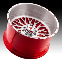 Fittipaldi Offroad Forged FTF07 Brushed Red Tint Custom Wheels Rims 3